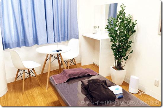 キレイモ北千住のキレイで素敵な施術ルーム(個室)