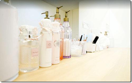 KIREIMO千葉店の化粧直し用パウダールーム