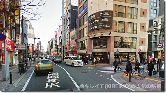 KIREIMO天神店付近の天神西通りの様子