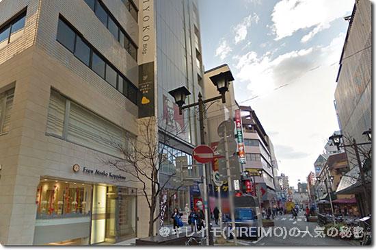 福岡天神駅からサザン通りをみた風景