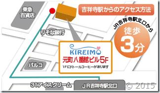 キレイモ吉祥寺店の地図