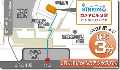 キレイモ(kireimo)立川北口駅前店の地図