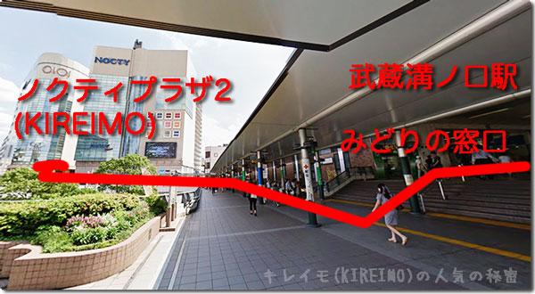 kireimo溝の口店の周辺(武蔵溝ノ口駅からキレイモまで)