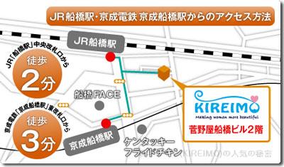 キレイモ(KIEIMO)船橋駅前店の地図