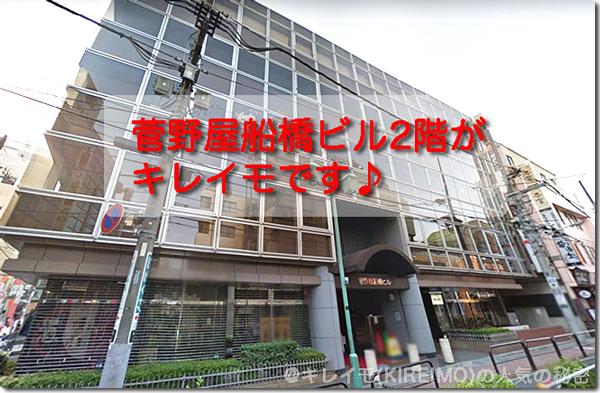 キレイモ船橋駅前店の場所と外観(菅野屋船橋ビル)