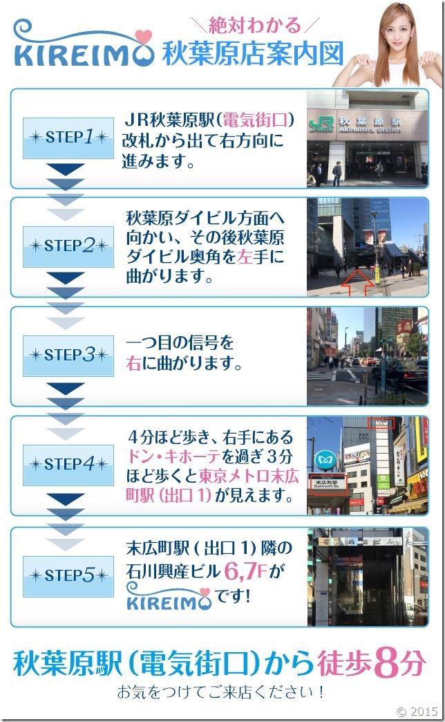 キレイモ秋葉原店までの道順(電気街口)