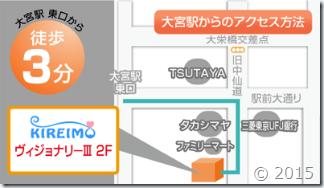 キレイモ大宮東口店の地図